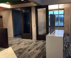 glass door frames wood frame glass door offices financial institution installation flex series sliding glass shower
