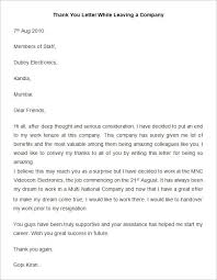 Thank You Letter To Employee Leaving The Letter Sample Regarding