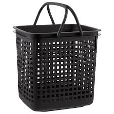 Black Cestino Stackable Storage Baskets with Handles