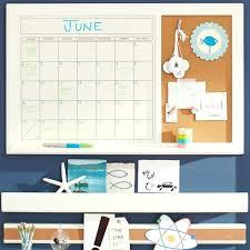 dry erase wall calendar with cork board