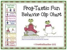 Frog Themed Behavior Chart Frog Tastic Behavior Clip Chart My Teacherspayteachers