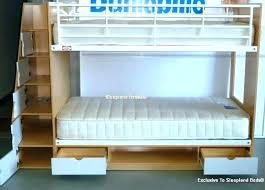 white bunk bed with stairs. Bed With Steps Bunk Only Storage Stairs  Loft Plans White
