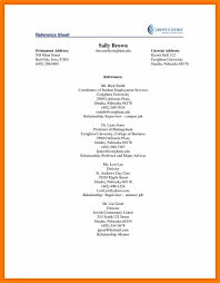 Resume Reference Page Example Examples Of Resumes