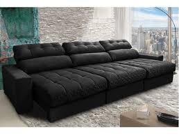 sofa cama tok stok sweet master preto