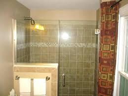 half wall shower half wall shower shower glass door half wall glass tile bathroom renovations with