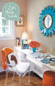 orange home office. Delighful Home Cu0026G Shop The Look Home Office With Turquoise And Orange Accents Throughout E