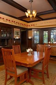 original pic dining room the dining room retains original dark stained woodwork now embellished
