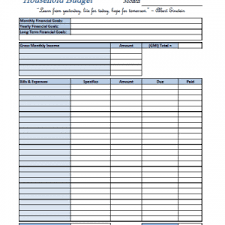 Free Monthly Budget Template Budget Worksheet : Oninstall