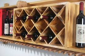 Amazing Wall Wine Bottle Holder Wooden Wine Bottle Tabletop Wine Rack  Throughout Wooden Wine Racks Wall Mounted ...