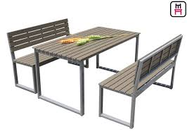 plastic wood outdoor restaurant tables