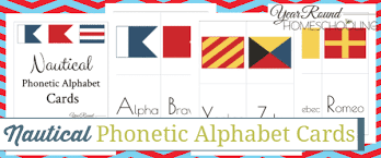 The holder is shaped like a french fry holder to remind the. Nautical Phonetic Alphabet Cards Year Round Homeschooling