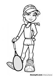 Coloring Pages Tennis Gifs Pnggif