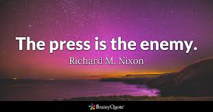 Richard Nixon Quotes 14 Best The Press Is The Enemy Richard M Nixon BrainyQuote