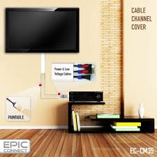 Amazon.com: TV Cable Management Organizer Raceway Wire Cover for A/V and  Power Cables: Home Improvement