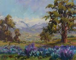upcountry lavender by plein air artist jan bushart find this pin and more on hawaii landscape paintings