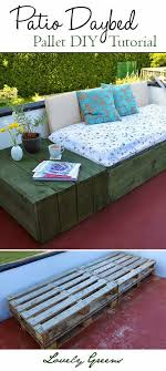 use pallets to create a modern and chic patio daybed why expensive outdoor furniture
