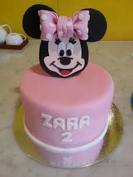 Single Tier Round Birthday Cake Girl Minnie Mouse The Delicious
