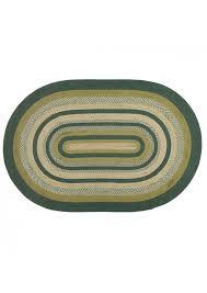 vhc brands rustic lodge flooring sherwood green oval jute rug 6 x 9 osljoxufm