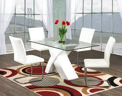 modern gl dining room tables delectable inspiration table sets sneakergreet with red chairs exciting and clearance