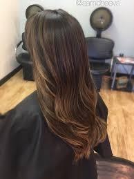 Light Brown Roots Dark Brown Hair Subtle Light Brown Caramel Coffee Balayage Highlights To