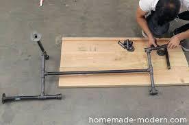 pipe coffee table homemade modern pipe coffee table step diy pipe coffee table plans