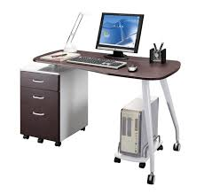 Small Standing Desk On Wheels Furniture Office Wooden Top Portable Nice  Stylish Computer Desks For Spaces Design Ideas Using
