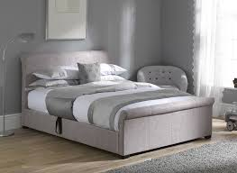 Ottoman In Bedroom Wilson Silver Fabric Ottoman Bed Frame Dreams