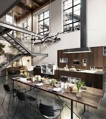Loft Kitchen 2 Elegantes Y Acogedores Lofts Cosmopolitas Mesas Industrial