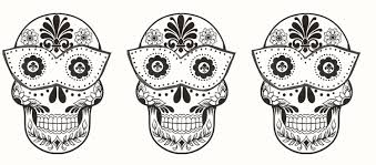 Day Of The Dead Skull Coloring Page Lovely Day Dead Skull Coloring
