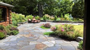 Small Picture Patio and stone wall by Steven Breed Garden designs using Goshen