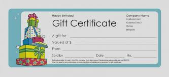 Gift Certificate Template Microsoft Word Extraordinary Birthday Gift Certificate Template For Word Lcysne