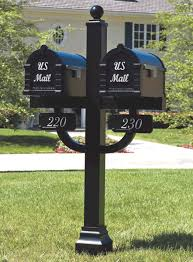 double mailbox post. Signature Keystone Series Mailbox And Deluxe Double Mount Post Packages