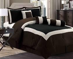 modern king comforter sets new chocolate brown black bedding hampton set queen 18
