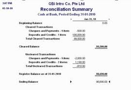 bank reconciliation form how to read your bank reconciliation report quickbooks asia