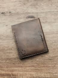 mens custom leather wallet hand stamped wallet mens anniversary gift dark brown color