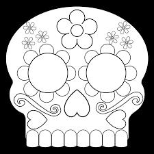 dead masks sugar skulls free printable