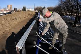 u s department of defense photo essay u s air force airman 1st class casey pritchard assembles a section of the experimental aquafence flood