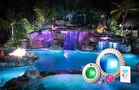 pool waterfall lighting. color lights pool waterfall lighting l