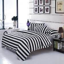 black white striped quilt cover pillow