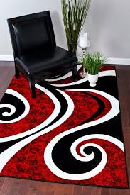 impressive designs red black. Impressive Black White And Red Rugs Rug Designs Inside Area Attractive T