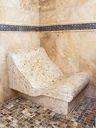 curved shower bench