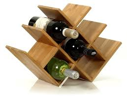 Amazon.com: W Shape 8 Bottle Tabletop Wooden Wine Rack (Improved Oct.  2014): Kitchen & Dining
