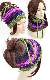 Ponytail Hat Knitting Pattern Impressive Ponytail Hat Pattern Knitting Pattern Ponytail Beanie Pattern Womens