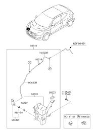 windshield washer for hyundai veloster hyundai parts deal 2012 hyundai veloster windshield washer diagram 9198611