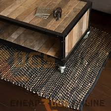 ibis black jute and cotton and cotton rug 90x150cm