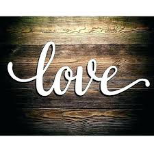wooden words for walls word signs wall love script wood sign art rustic cursive room inspirational