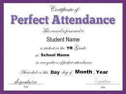 Perfect Attendance Certificate Template Classy 8 Free Sample