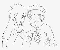 Kid Naruto And Sasuke Lineart By Goku003 Sasuke Uchiha Naruto