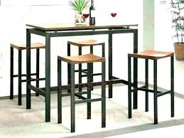 black high gloss dining table and 4 chairs oslo 120cm stowaway set bar top pub ta