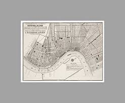 new orleans vintage city maps 24x18 matte poster print wall art on map of new orleans wall art with amazon new orleans vintage city maps 24x18 matte poster